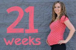 Беременная на 21 неделе