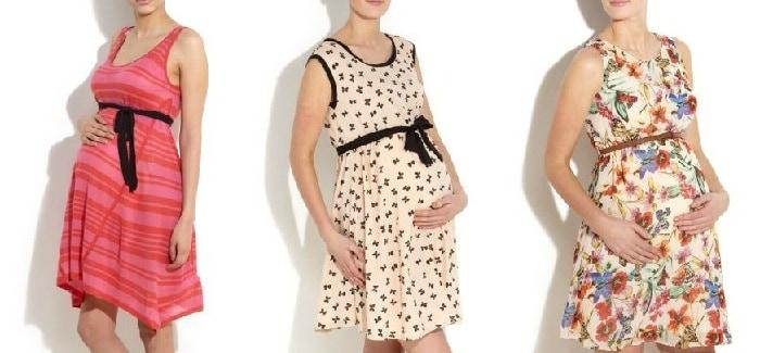 Модная одежда для беременных: лето 2012